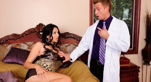 Missy Martinez is sick and calls her house doctor to come and fuck the sickness out