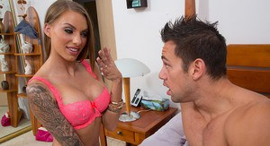 Juelz Ventura wakes up her new husband with a surprise wedding ring then hot anal