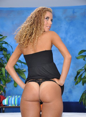 Cute 18 year old massage therapist Jessie gives a little more than a massage!