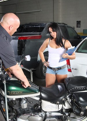 Alexa Jordan checks out a bike but ends up riding the owner